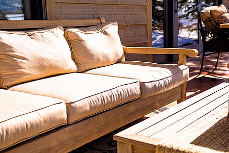 couch, furniture, outdoor, home, decor, comfortable, brown
