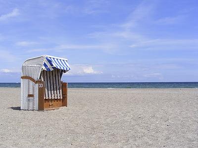 cadira de platja, platja, Costa, Mar, sorra