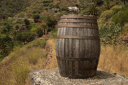 ton, baril, bois, Diogène, vin, bois, conteneur