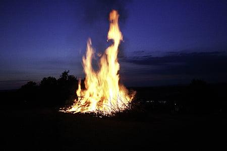 foc, flama, evolutiva, marca, cremar, fusta, calor