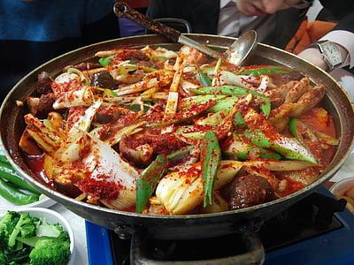 kana bokeumtang, kana jalg, kana, toidu, Cooking, maitsestamine, kana-korea