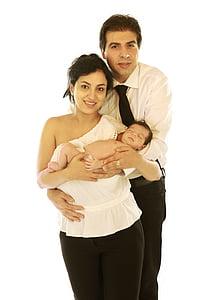 família, nascut, nadó, nadó, noi, educació infantil, pare