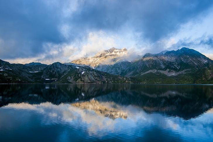 idíl·lic, Llac, paisatge, muntanyes, natura, tranquil, paisatge