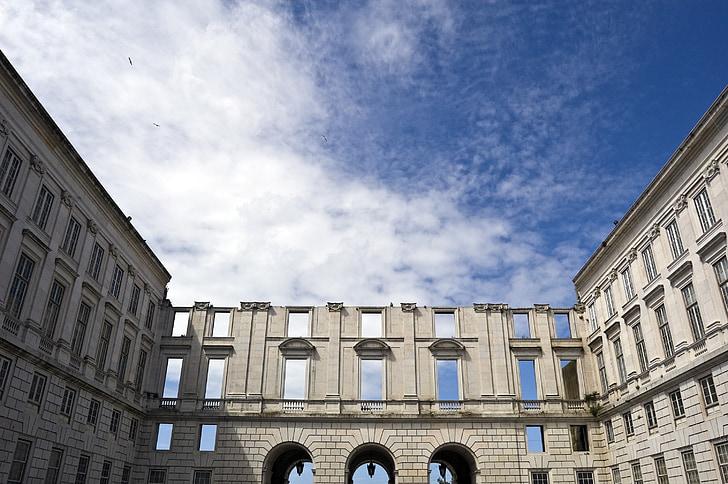 building, arch, architecture, landmark, monument, portugal, windows