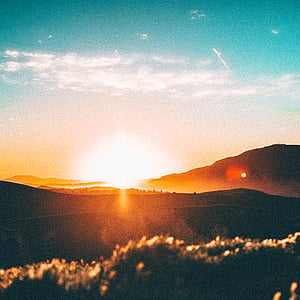 montagna, Highland, cielo, vertice, cresta, paesaggio, natura