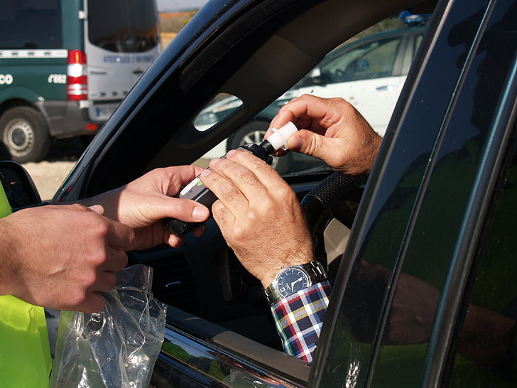 bandymas, breathalyzer, vairuotojas, kvėpavimas valdymas