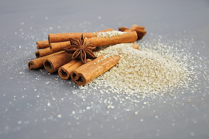 spices, anise, star anise, stars, cinnamon, cinnamon sticks, aroma