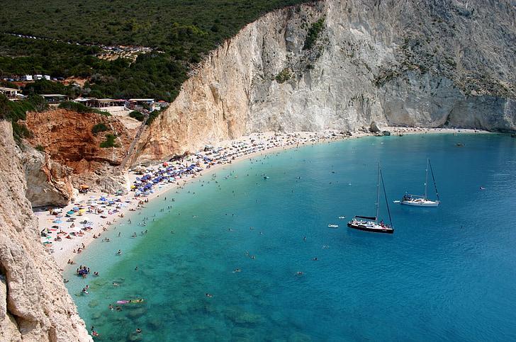Lefkas, morje, Beach, Sredozemsko morje, Grčija