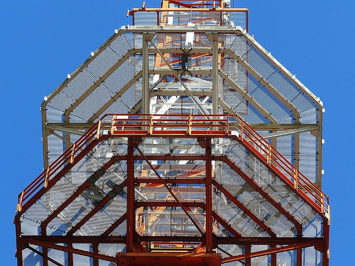 라디오 돛대, 송신 탑, 플랫폼, 라디오 타워, 스카이, 무선 기술, 라디오 안테나