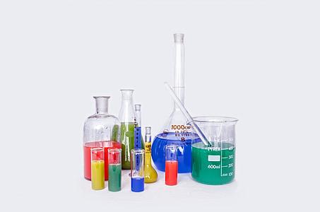 Lab, onderzoek, chemie, test, experiment, veel, farmaceutische