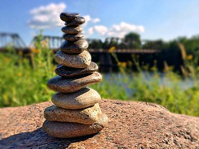 roches, empilé, pierres, Balance