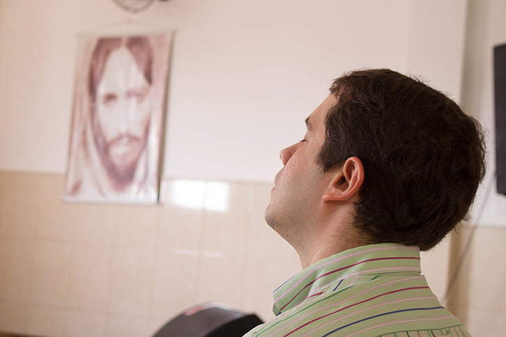 nồng độ, cầu nguyện, người đàn ông, tôn giáo, nhắm mắt lại