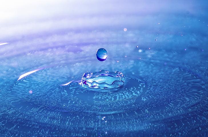 DROPP, Highspeed fotografi, droppe vatten, spray, vätska, vattenstänk, makro