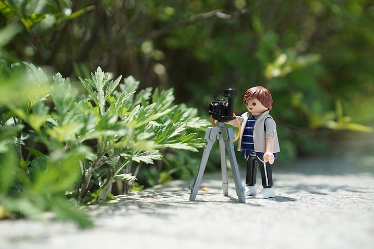 playmobil, photography, photographers, photographer, tripod, ex 4, shooting