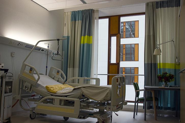 pleje, Hospital, værelse, Bed, nye, Enschede, sundhedsvæsen og medicin