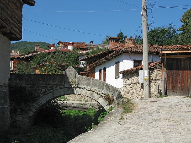 bulgaria, village, koprivshtitsa, mountain village, countryside, architecture