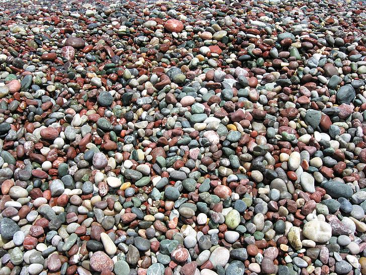 pebbles, beach, nature, seaside, texture, rock