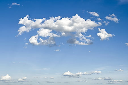 niebo, chmury, na zewnątrz, sceniczny, spokojny, stratosfery, atmosfera