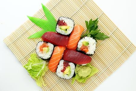 sushi, japonès, deliciós, asiàtic, aliments, deliciós, menjar japonès