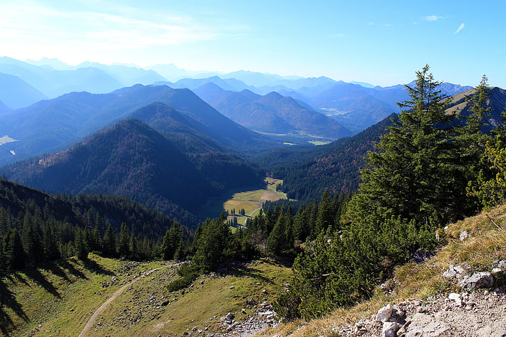mountain landscape, mountain summit, mountain range