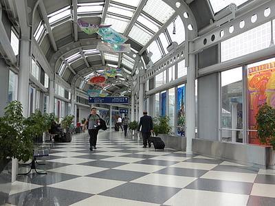 băng đảng, đi bộ, Sân bay, di chuyển, tiền sảnh, đi du lịch, khách du lịch