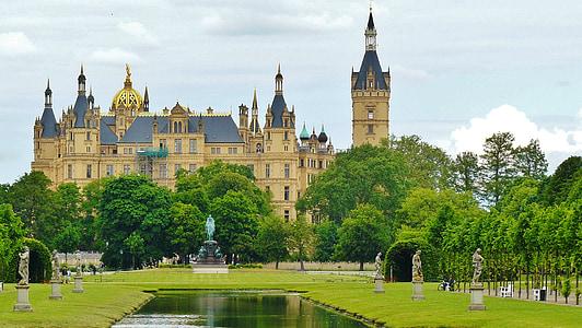Шверін, Шверин замок, Замок, Мекленбург Західна Померанія, Німеччина, Архітектура, Визначні пам'ятки