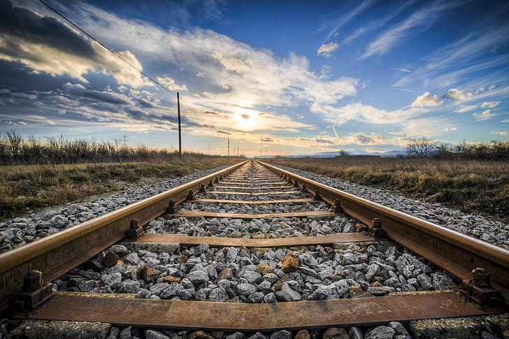gleise, old railroad tracks, seemed, train, metal, stainless, rail traffic