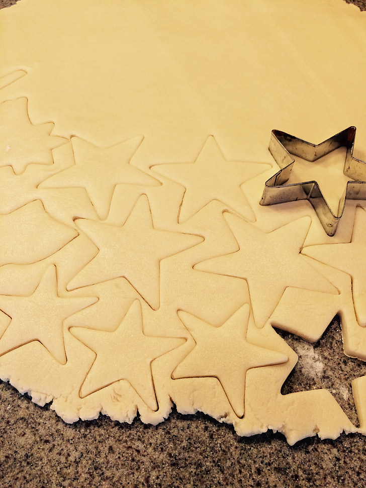 suhkru küpsiseid, küpsised, Star küpsised, 4. juuli, kuju küpsised, küpsise lõigatud elektrikatkestusi, küpsetamine