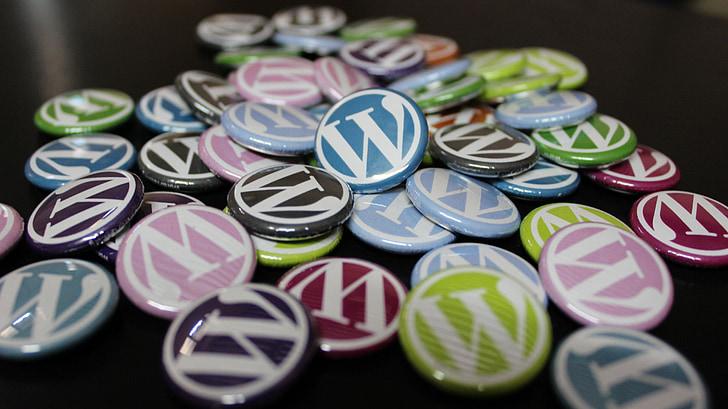 WordPress, значки, бутони, блог, Blogging, CMS, много цветни