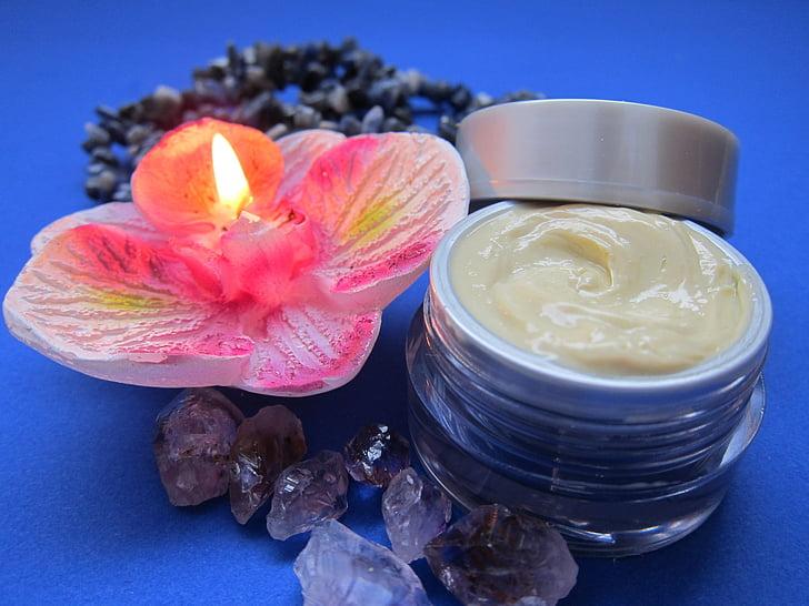 cura de la pell, crema, luxe, Espelma, cura de la pell, relaxació, Ametista