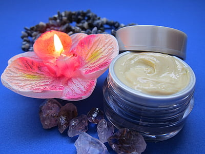 skin care, cream, luxury, candle, skincare, relaxation, amethyst