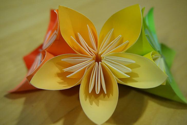 Free photo origami flower paper folding modules hippopx flower paper folding modules origami mightylinksfo