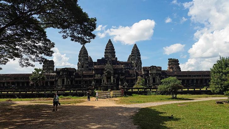 Kambodża, Angkor wat, Świątynia, Historia, Azja, świątyni złożonych