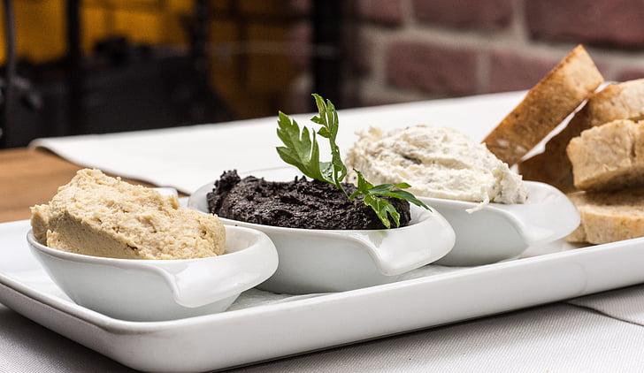 entrants, olivada, pasta, cuina, aliments, casolana, aperitiu