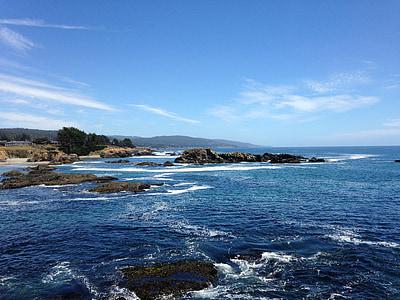 del Pacífic, oceà, Califòrnia, marí, Costa, blau, assolellat