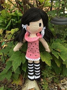 Crochet doll, na szydełku, Wzór szydełkowy, Przędza, Wełna, ręcznie robione, Natura