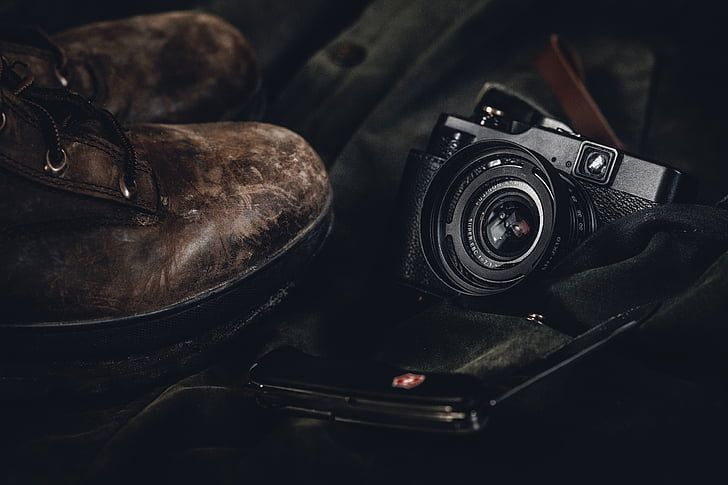 lifestyle, travel, shoes, boots, camera, photography, camera - Photographic Equipment