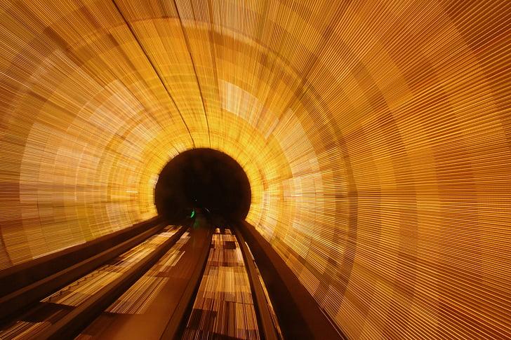 pitkän altistuksen, tunnelin, nopeus, näön puolesta, arkkitehtuuri, Motion