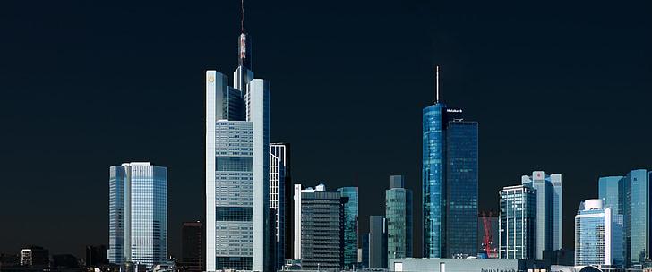 horitzó, gratacels, gratacels, arquitectura, Frankfurt, edifici, moderna