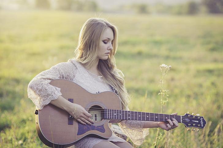 Quốc gia, guitar, Cô bé, âm nhạc, nhạc cụ, âm nhạc, âm thanh