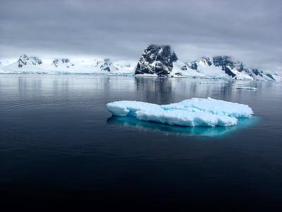 Mar, oceà, l'aigua, gel, neu, l'hivern, iceberg