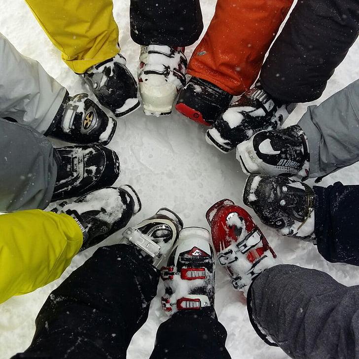 Suuskade, lumi, Boot, taas saapad, suusasaapad, Ring, inimese kehaosa