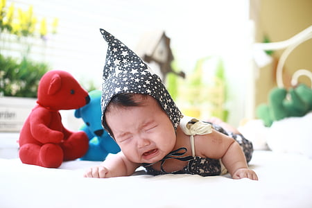 baby, crying baby, cute, infant, toddler, girl