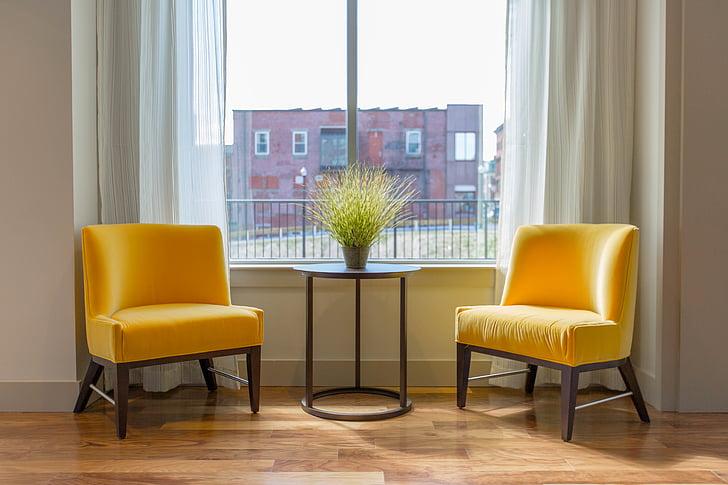 アパート, 椅子, 快適さ, 床, 家具, ホーム, 家