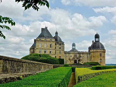jardí, Born, Castell, França, medieval, Castell, històric