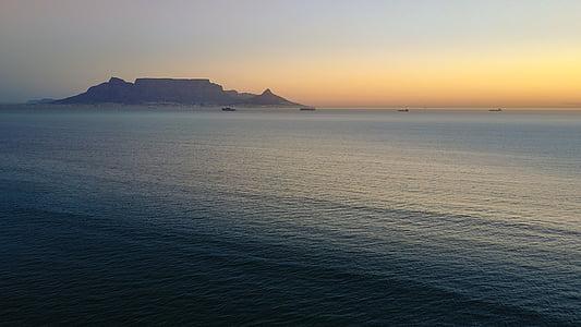 gorskih, tablemountain, med tem, iz Cape Towna, iz zraka, Ocean, Atlantika