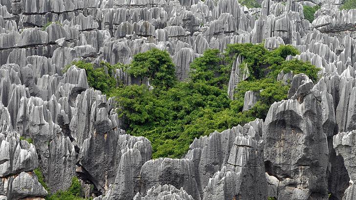 Chine, Kunming, forêt de pierres, pierres