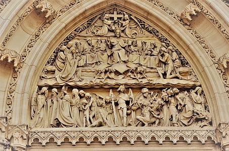 sculpture, portal, architecture, church, monument, cathedral, famous Place