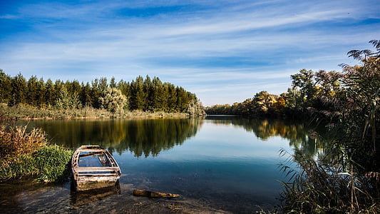 autumn, nature, autumn leaves, landscape, trees, river, atmosphere