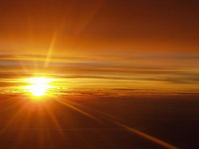 oblaky, Sky, slnko, západ slnka, dosvit, nálada, Sunbeam